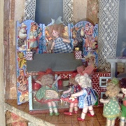Some of the girls were magnetically drawn to the dolls' houses.