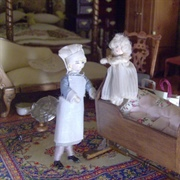 Upstairs, Nanny Ford struggled with a wilful Freya - yes, the twins ...