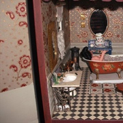 The Victorian bathroom in the first house I designed and built.