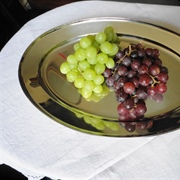 Still life interpretation of a Dol-Toi fruit platter - white and black ...