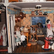 The busy kitchen in my 1912 house.