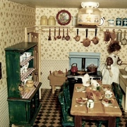 Farmhouse kitchen in my granddaughter's house.