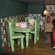 1920s dolls house kitchen.
