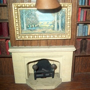 The bookshelves on either side of the fireplace were a delight.  They ...