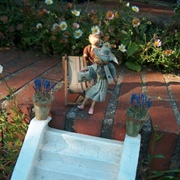 Later that day Virginia was on the terrace in the encroaching dusk. ...