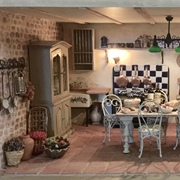 My favourite kitchen of all in the French country house.