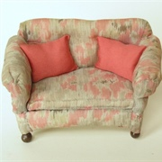 One example of the many different soft furnishings covered with ...