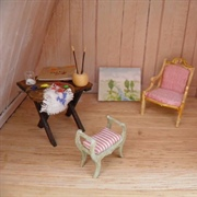 Art studio in attic.