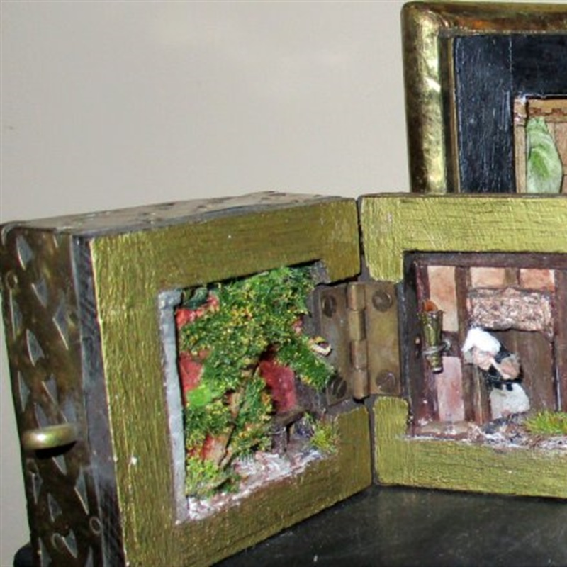 The Tudor and the Jacobean boxes together