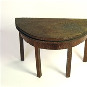 Gateleg tea or card table.