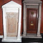 The front door before and after. I phoned the previous owner and asked ...