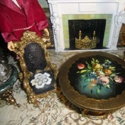 Table and chairs from Barbie's Victorian Mansion