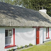 An Irish cottage. I decided to do the windows and paintwork like this.