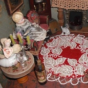 A beaded tablemat rug