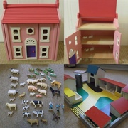The little house, set of animals and farm buildings and we are set to ...