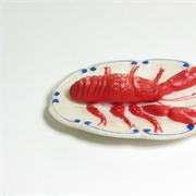 Garish bisque lobster.