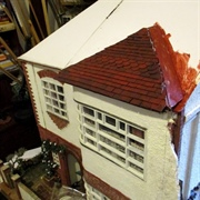 View of first tiling and roof join to main part of the 'cake'