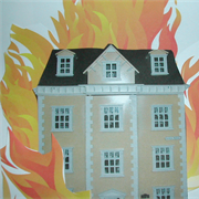In the early hours a fire engulfs 'The Big Yellow House'....