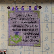 Cross stitch scullery hanging...