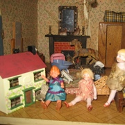 The Girls are delighted with their new dolls house