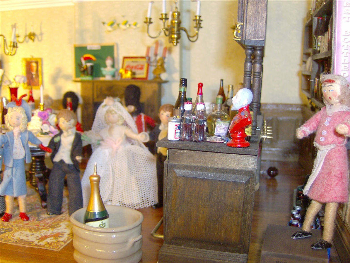 The wedding party had reassembled at the newly opened Queen's Head.
