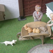 ...and giving them a ride in the wheelbarrow, along with the ...