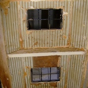 Original paper, The wood block above lower window is to hold broken ...