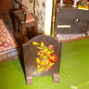 Front of firescreen in excellent original condition.
