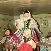 Hungarian Lady with Bavarian Boy and Gretel