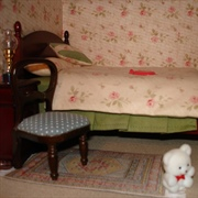 The main bedroom with Grace's cot to the right.