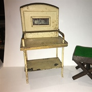 Tin Washstand and Pit-a-Pat Card Table