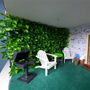 The patio/ outside room