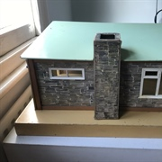 Back, with chimney and roof in situ.