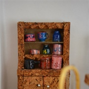 Cork dresser with card shelves ... and more ink cartridges