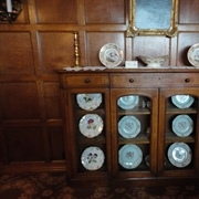 Lanhydrock - The Dining Room's china cabinet.