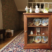 The morning room china cabinet