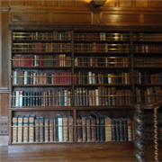 Lanhydrock - bookcase in The Gallery