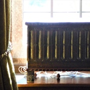 Lanhydrock - a casket on The Smoking Room windowsill