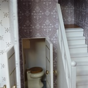 The loo under the stairs