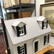 A Cape Cod Dollhouse Furnished With Tynietoy