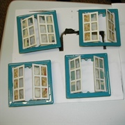 We re-enamelled the window frames with Humbrol enamel paint.