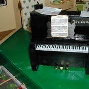 I made the keyboard and tiny copies of music.... after all what is a ...