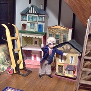 Just before teatime, a lovely selection of dolls' houses arrives ...
