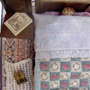 Bryan is snugly tucked up in his simple Tudor bed for a well deserved ...