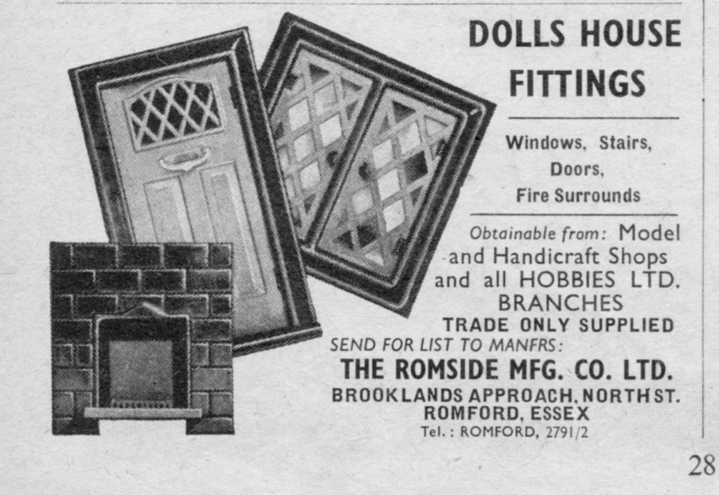 Romside advertisement in Hobbies 1957 Handbook