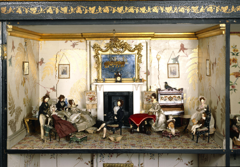 The drawing room of the Killer Cabinet, as displayed at the V&A Museum of Childhood