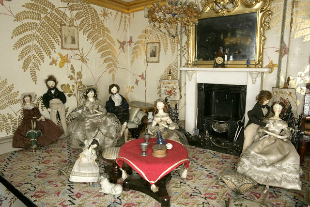 Another view of the drawing room, as displayed at the V&A Museum of Childhood