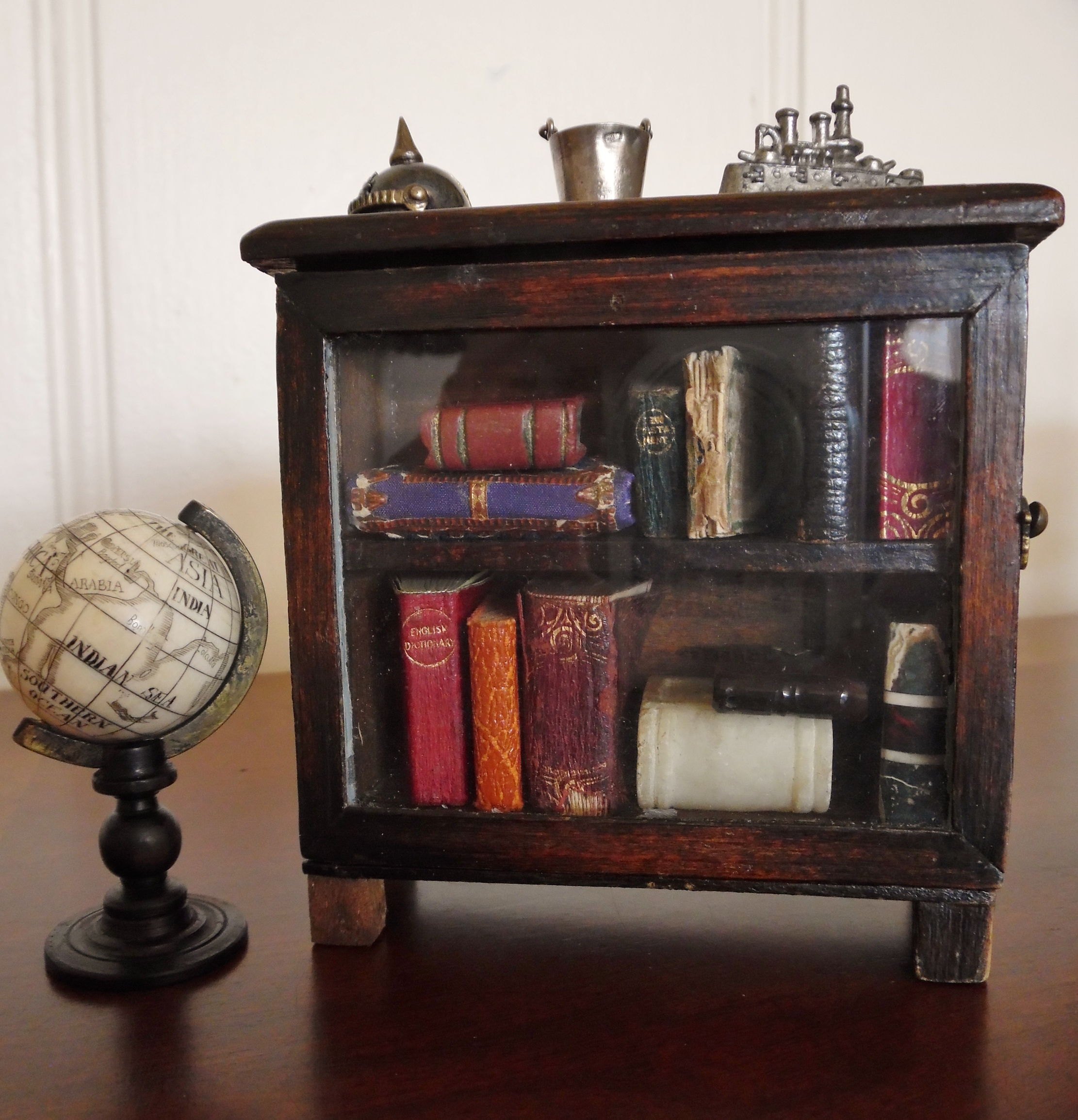 Bookcase and globe