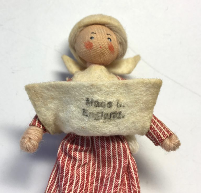Late-1930s 'Made in England' Ink Stamp on a Grecon Doll