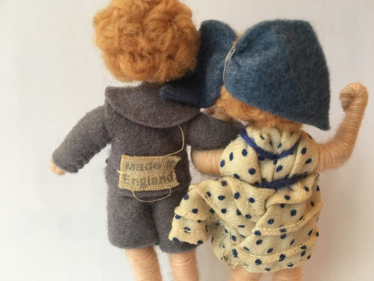 Late 1930s 'Made in England' label on Grecon Doll